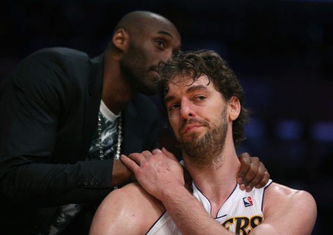 """Amistad eterna: Pau Gasol felicita a Kobe, y le llama """"G.O.A.T."""""""