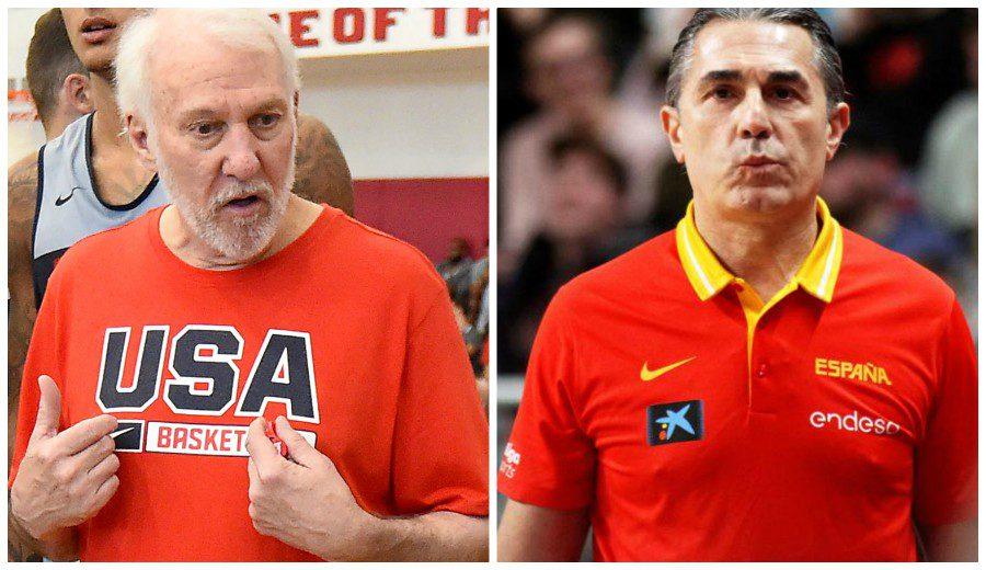 Popovich y Scariolo valoran positivamente el duelo entre España y USA