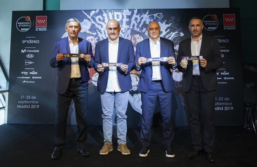 Los coachs de la Supercopa valoran el sorteo y enfocan la temporada
