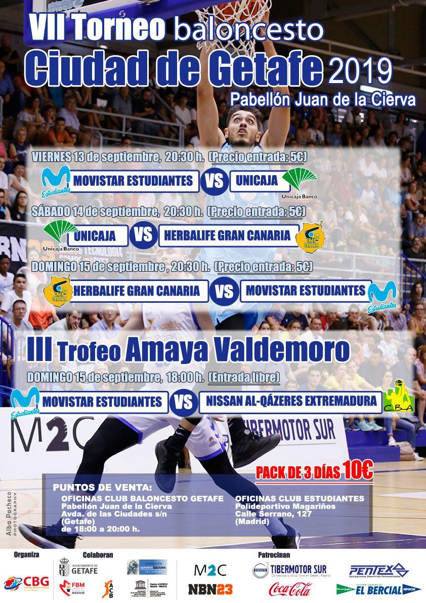 Llega el VIII Torneo de Getafe: Estudiantes, Gran Canaria, Unicaja y Al-Qázeres