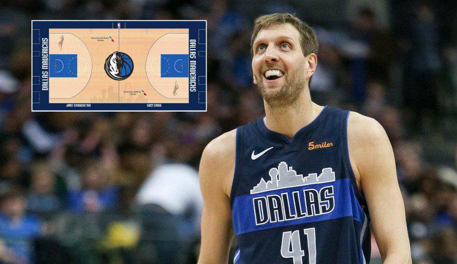 Los Dallas Mavericks homenajean a Dirk Nowitzki en su nueva cancha