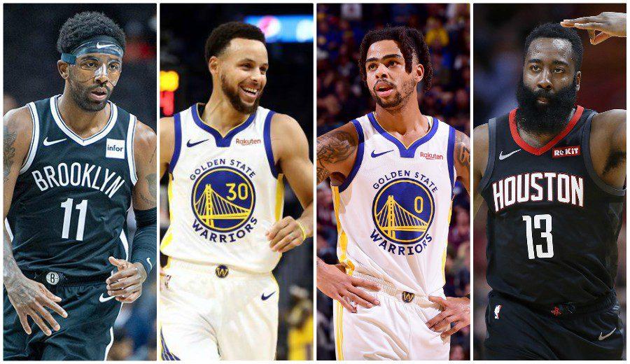 Harden se exhibe, Irving debuta y Curry y Russell combinan 61 puntos