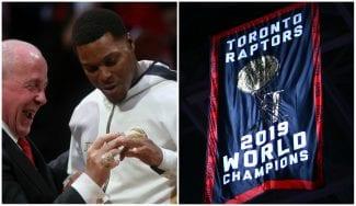 Los Toronto Raptors reciben su anillo de campeones