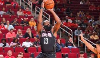 Harden patenta un nuevo tiro en la paliza de los Houston Rockets