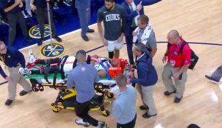La peor noticia de la noche: Kemba Walker, hospitalizado tras un chocar con su compañero
