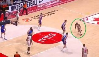 El triple de Lorenzo Brown que impidió la victoria del Valencia en Serbia