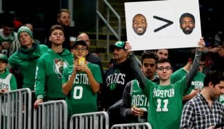 Irving no se corta: contesta a los fans de Boston tras llamarle «cobarde» por no jugar