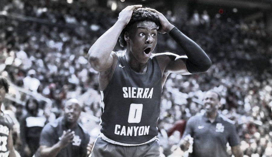 El hijo de LeBron James mete la canasta ganadora al instituto de su padre con él delante