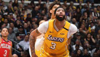 NBA, resumen: salvajadas de Davis con los Lakers y del 'big three' de los Rockets