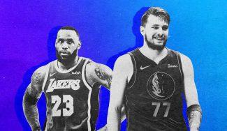 LeBron James y Luka Doncic lideran las votaciones para el All-Star. Resultados tras el segundo recuento