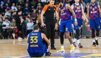 Parte médico del Barça tras la lesión de Mirotic en la Euroliga