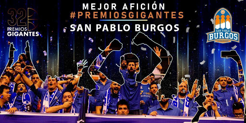 El San Pablo Burgos se lleva el galardón de Mejor Afición en los Premios Gigantes