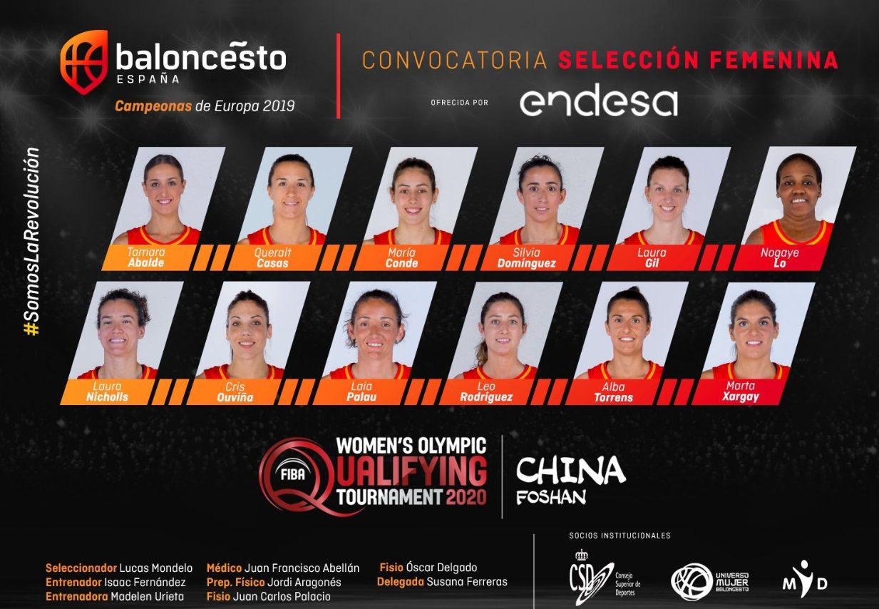 Lista de España: con estas 12 jugadoras nos jugaremos estar en Tokio