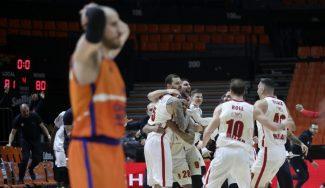 Cruel derrota del Valencia Basket en la prórroga y a puerta cerrada en la Euroliga