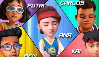 NBA Junior Jump Squad: las historias de cinco amigos con algo en común, el baloncesto
