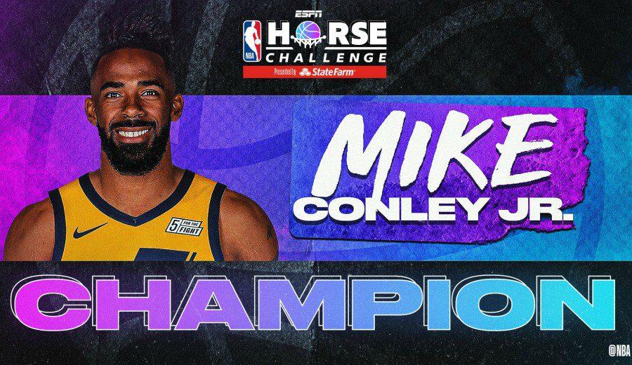 Mike Conley saca partido a su lujosa cancha y se lleva el torneo de H.O.R.S.E.