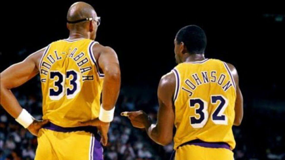 Magic Johnson y Kareem Abdul-Jabbar