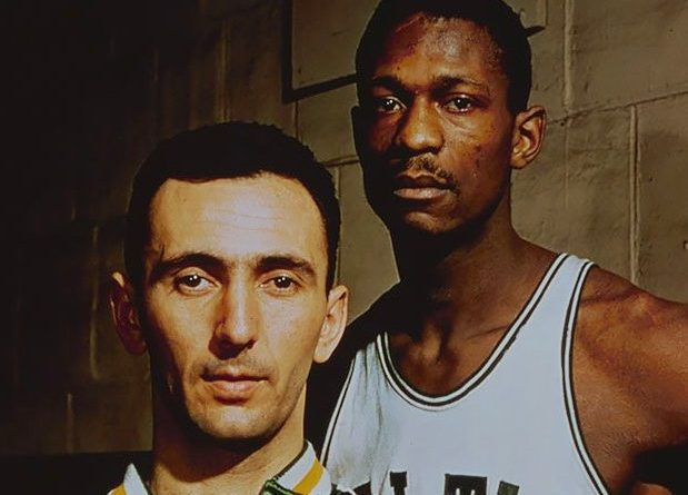 Bob Cousy y Bill Russell