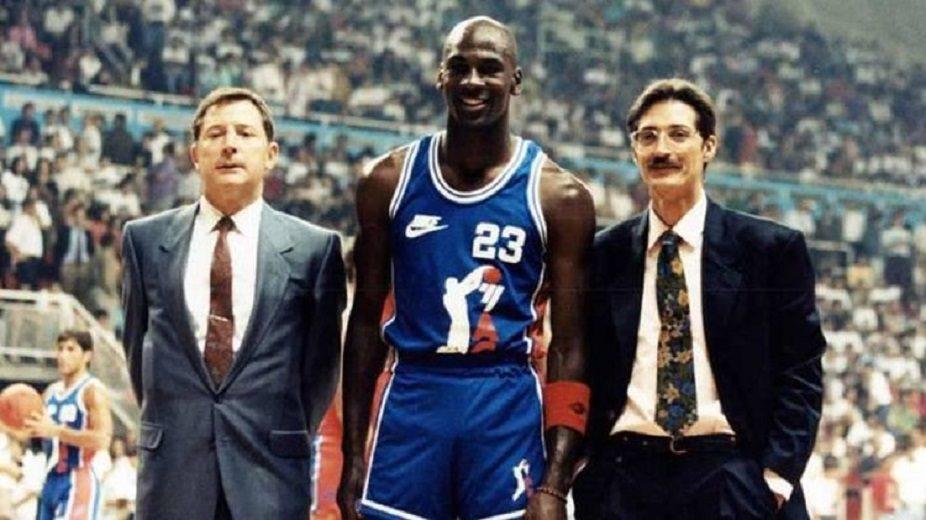 La primera vez que Michael Jordan jugó en España: participó en la presentación de la ACB en 1990 (Partido completo)