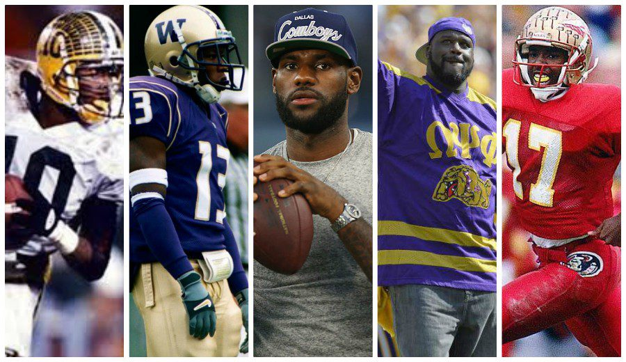 LeBron James y otros jugadores NBA que podrían haber jugado en la NFL