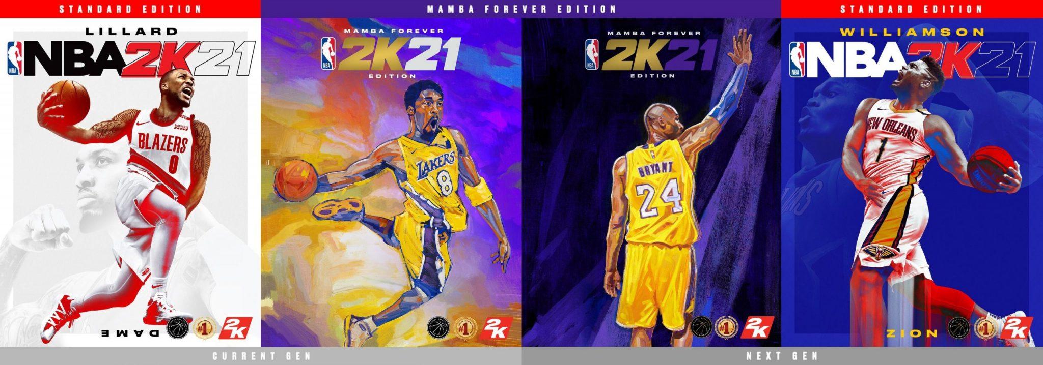 NBA 2K21 portadas