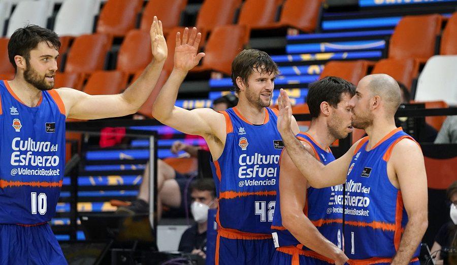 Valencia Basket brilla y se mete en semifinales; San Pablo Burgos es segundo y el Real Madrid queda fuera