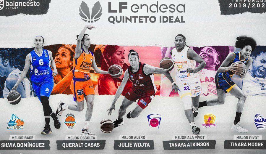 Elegido el quinteto ideal de la Liga Femenina Endesa y los premios de la temporada
