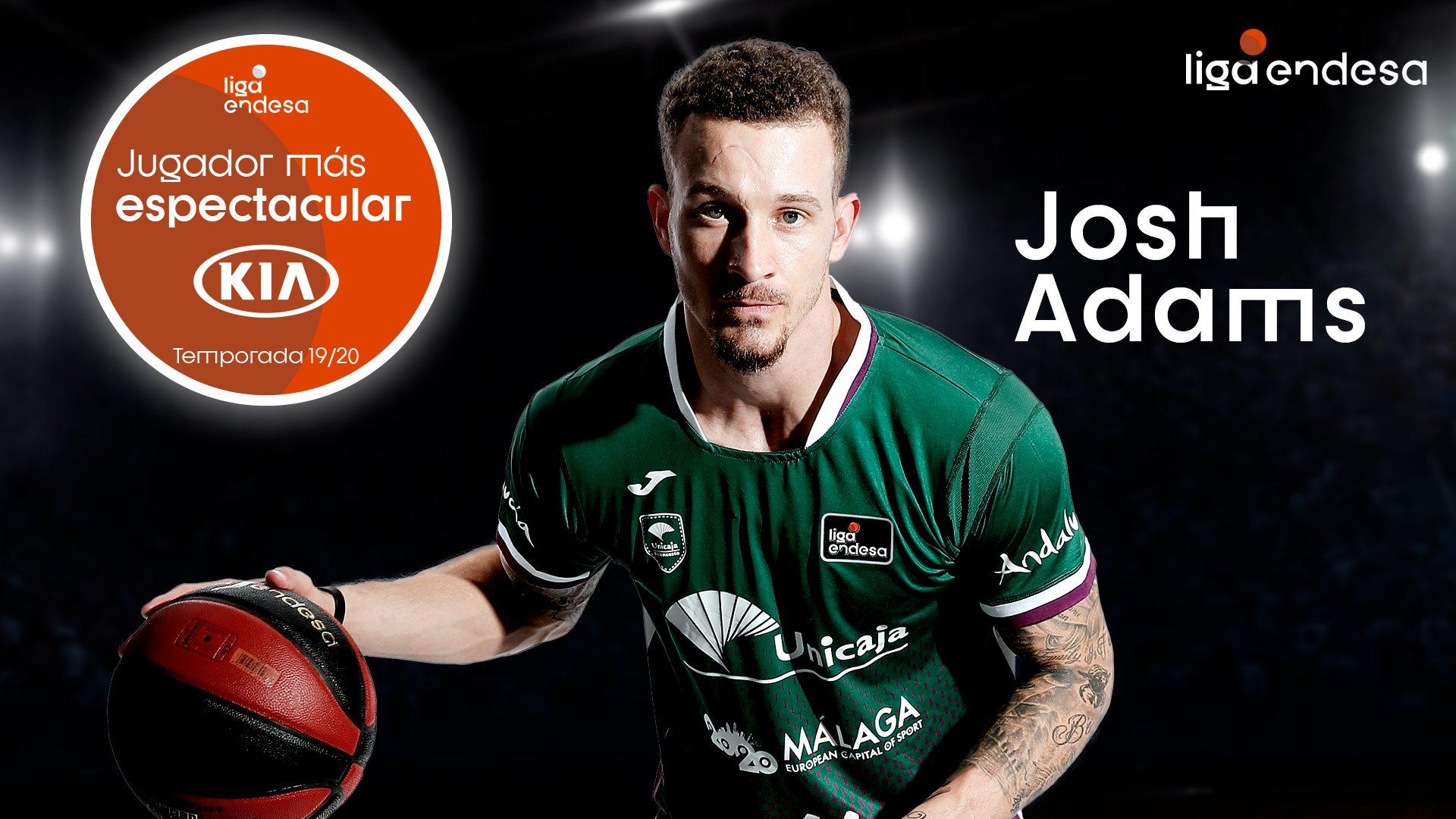 Josh Adams, elegido Jugador más espectacular KIA de la Liga Endesa