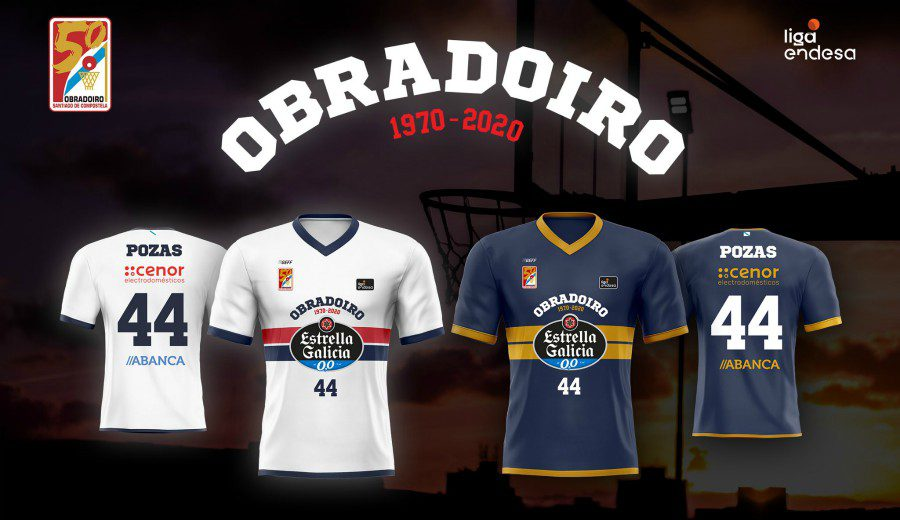 El Monbus Obradoiro estrena camisetas por su 50 aniversario