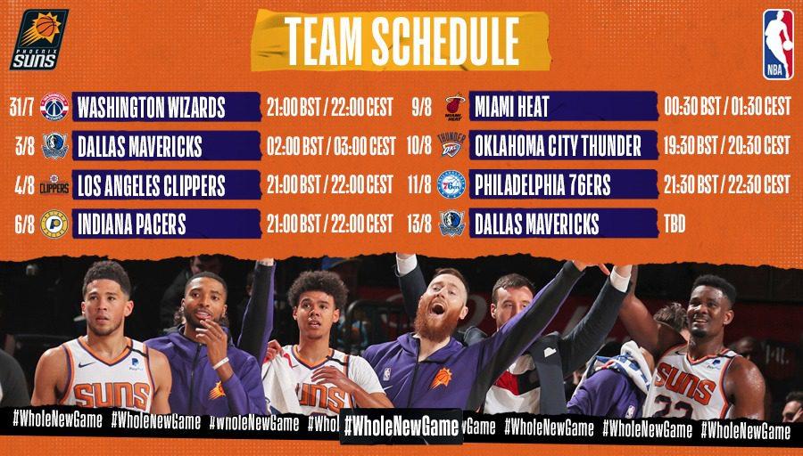 Phoenix Suns, NBA, Orlando 2020