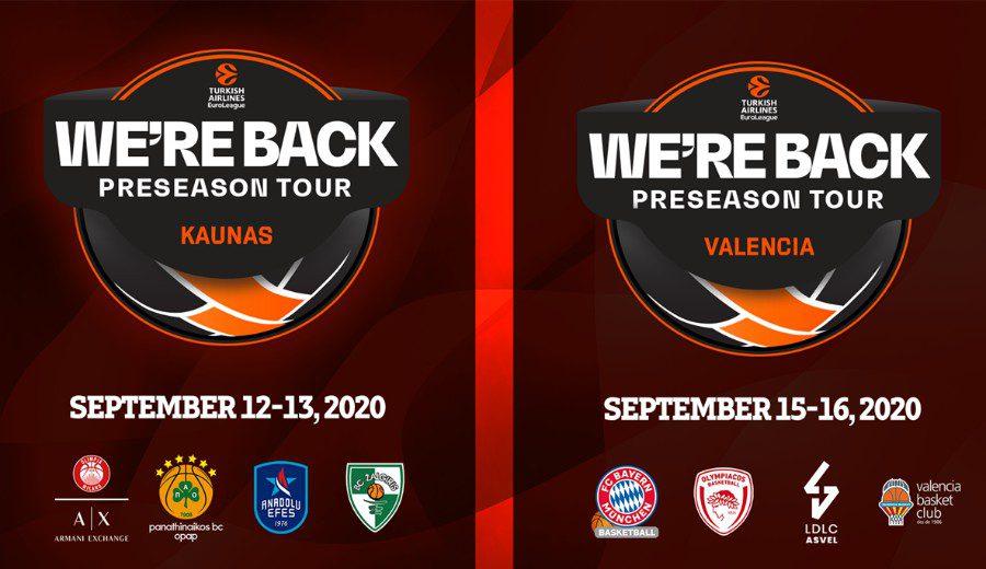 La Euroliga vuelve a la acción con dos torneos de pretemporada