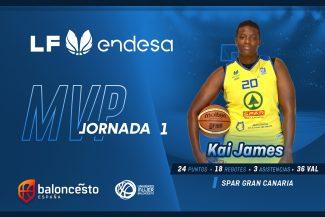 Liga Femenina Endesa: Las 5 protagonistas y la MVP de la primera jornada (a falta de un partido)