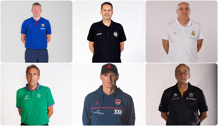 Los 19 entrenadores de la Liga Endesa 2020-21