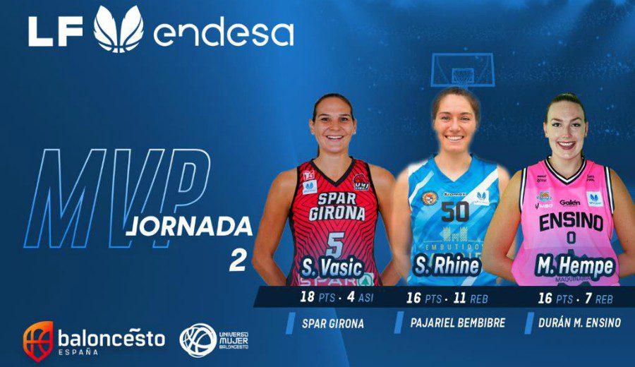 MVP compartido y quinteto ideal de lujo en la Jornada 2 de la Liga Femenina Endesa