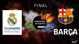 Real Madrid- Barcelona, Final SuperCopa ACB 2020: horario y TV del partido