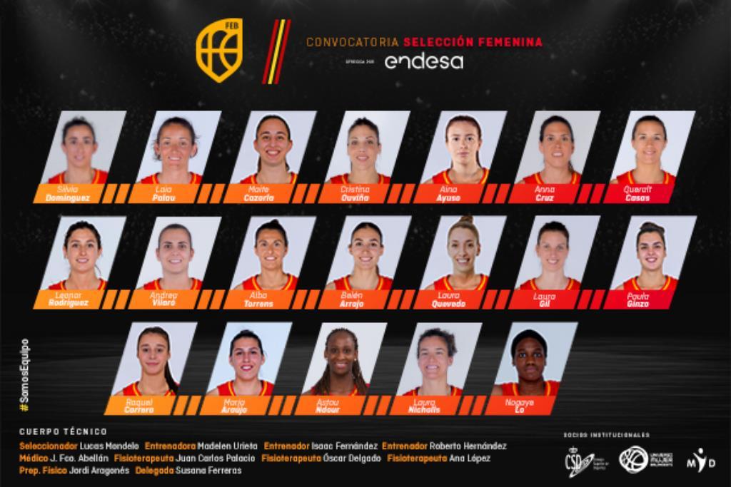 Las 19 convocadas por la Selección Femenina para la concentración de noviembre