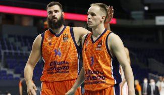 Dubljevic lidera al Valencia Basket y deja al Real Madrid con dos derrotas en dos partidos