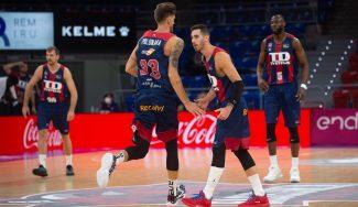Polonara y Giedraitis lideran al TD Systemas Baskonia en su victoria ante el Barça