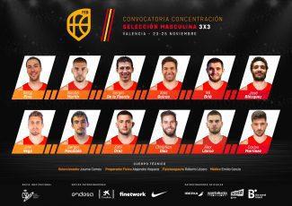 La selección masculina 3×3 convoca a 12 jugadores para trabajar en Valencia