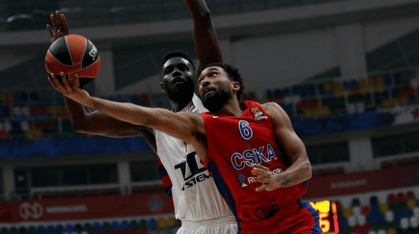 La exhibición de Hilliard lidera la victoria del CSKA frente al TD Systems Baskonia