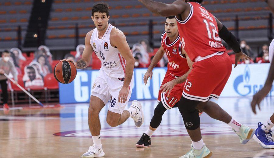 El Real Madrid sobrevive a otra prórroga en Grecia y derrota al Olympiacos con el mejor Laprovittola en la Euroliga