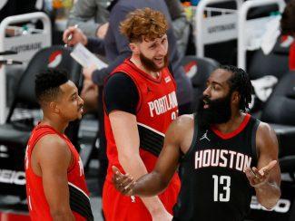 Con 9 jugadores y partidazo de Harden pero CJ McCollum amarga a los Rockets (Vídeo)