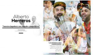 """Entrevista a Alberto Herreros: """"Nuestros jugadores son animales competitivos"""""""