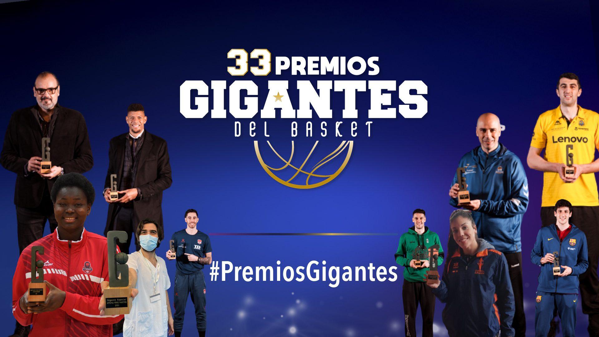 Gala 33 Premios Gigantes: los 23 galardonados del año más difícil