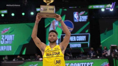Stephen Curry firma un maravilloso Concurso de Triples y se proclama campeón (Vídeo)