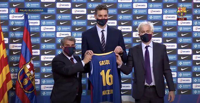 Pau Gasol, presentado en el Barça. Su decisión, el proceso de la lesión, futuro… (vídeo)