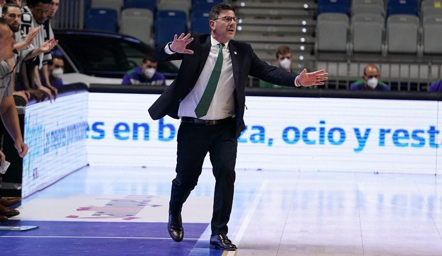 Las palabras de Fotis Katsikaris tras la derrota de Unicaja frente al Hereda San Pablo Burgos