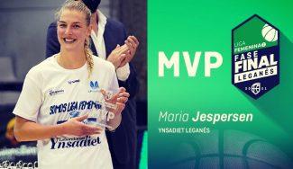Maria Jespersen y su MVP de la Fase Final de la Liga Femenina 2