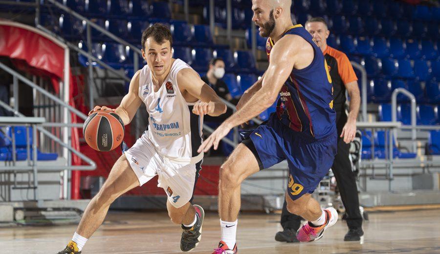 Kevin Pangos lidera al Zenit ante el Barça y suma el primer punto en el Palau