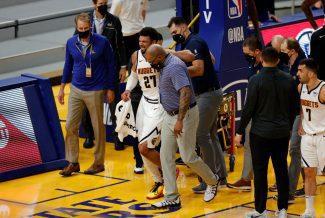 Preocupante: Jamal Murray sufre una lesión en la rodilla derecha